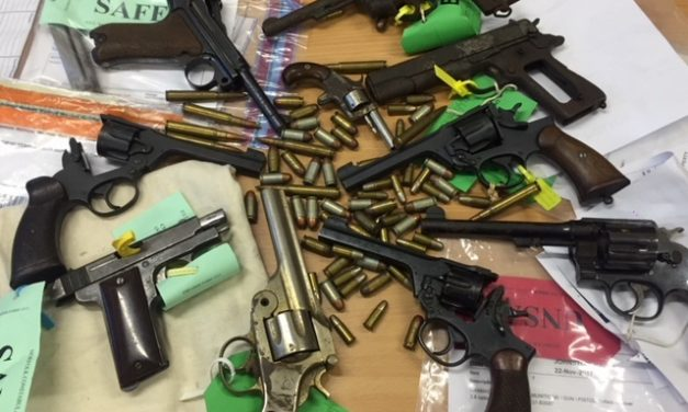 Nearly 300 firearms handed in during surrender
