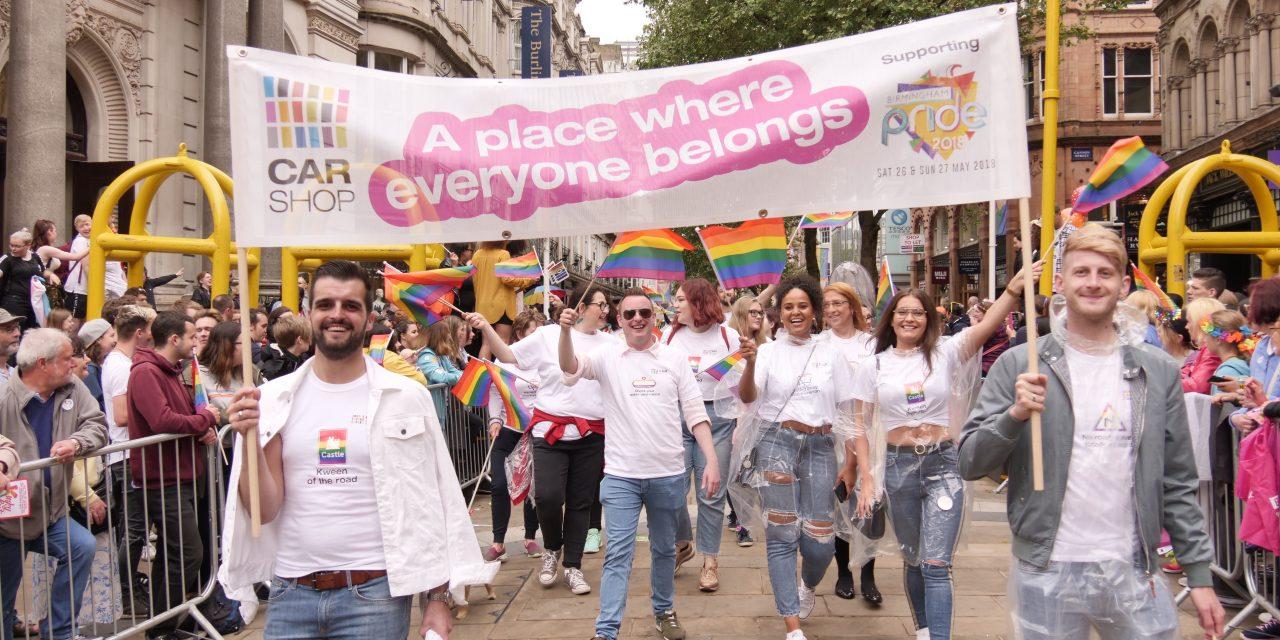 Norwich CarShop beams with Birmingham Pride