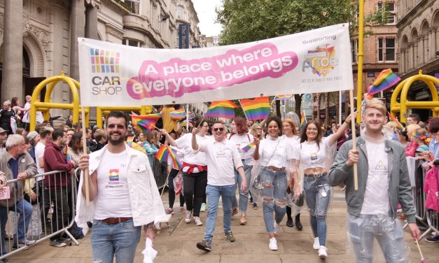 Norwich CarShop beams with Birmingham Pride