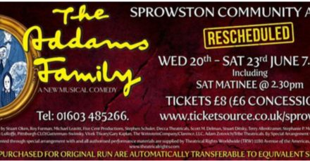 'The 'Snow' Must Go On' – The Addams Family will come to Sprowston!