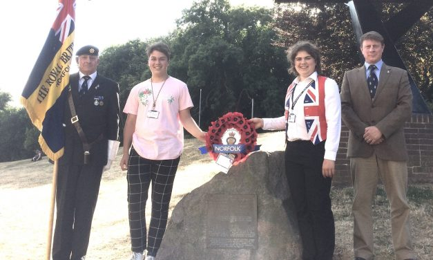 Norfolk Youth Parliament pens heartfelt message for Ypres wreath
